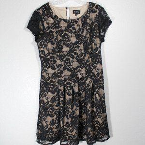 Knee Length Lace Sheath Dress, Key Hole Back